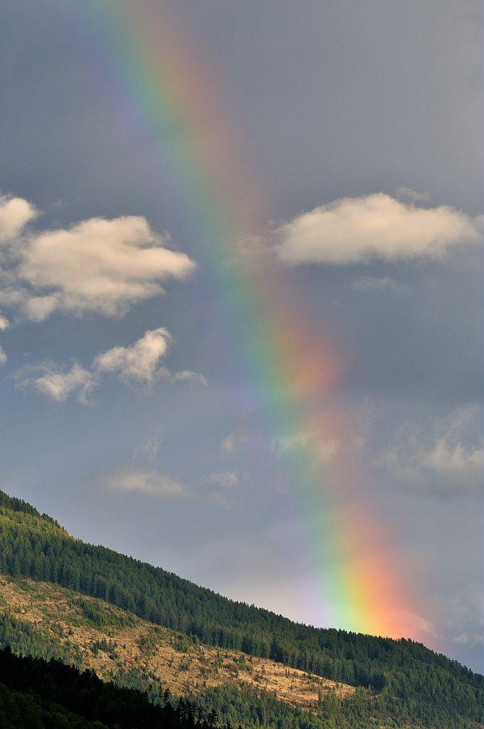 Arc en ciel sur le versant du mont Guillaume - Puy St Eusèbe © Mireille Coulon - Parc national des Ecrins