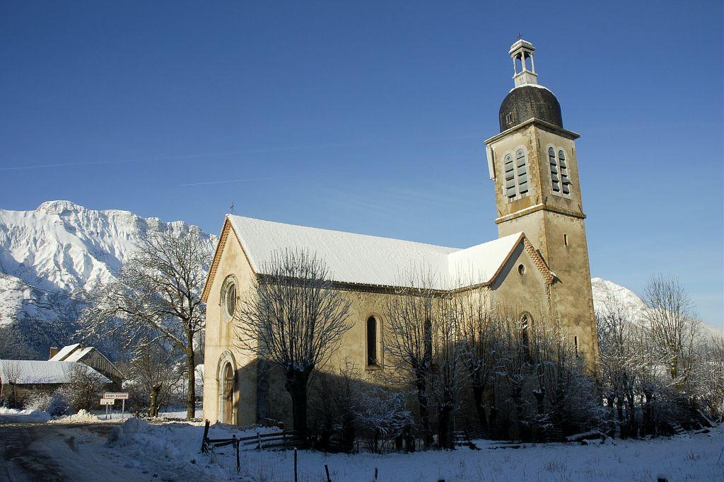 L'église de Saint-Eusèbe ©Vincent Dominique - Parc national des Ecrins