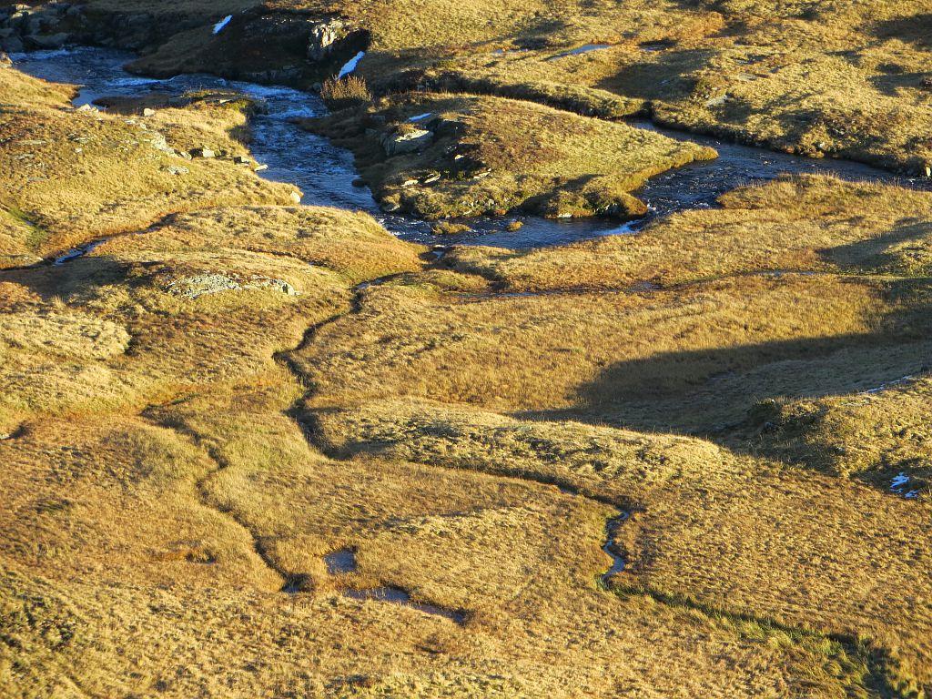 Tourbières vues depuis le Pas de l'Envious Massif du Taillefer Commune d'Ornon © Justine Coulombier - Parc national des Ecrins