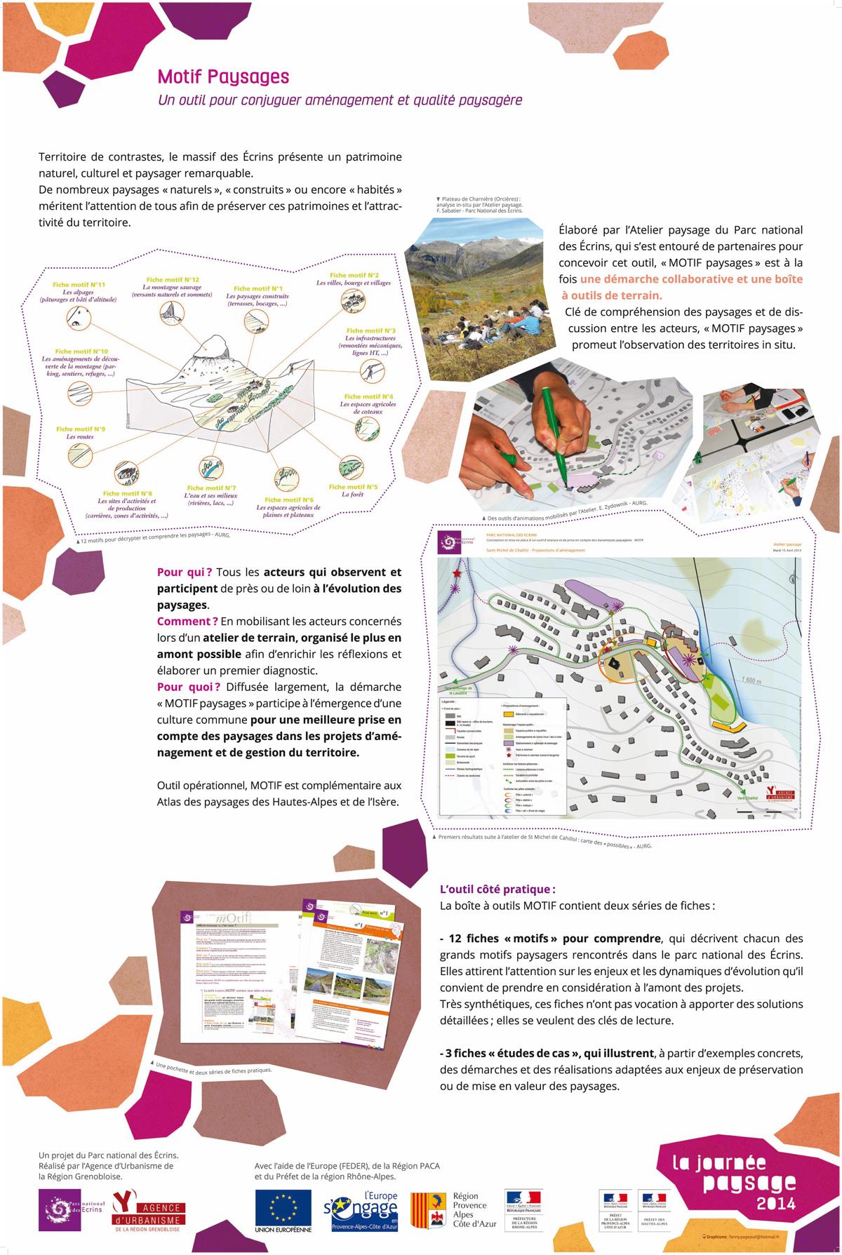 Panneau atelier paysage - Parc natonal des Ecrins