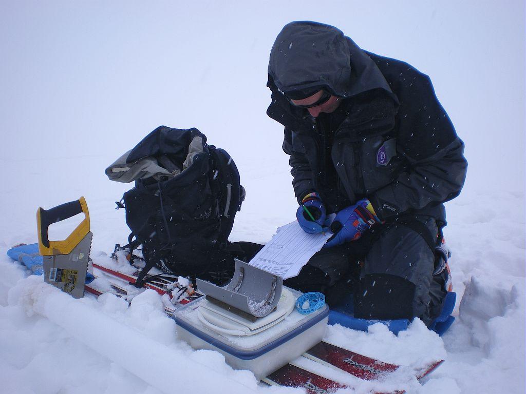 Suivi glacier Blanc - photo JP Telmon - PNE