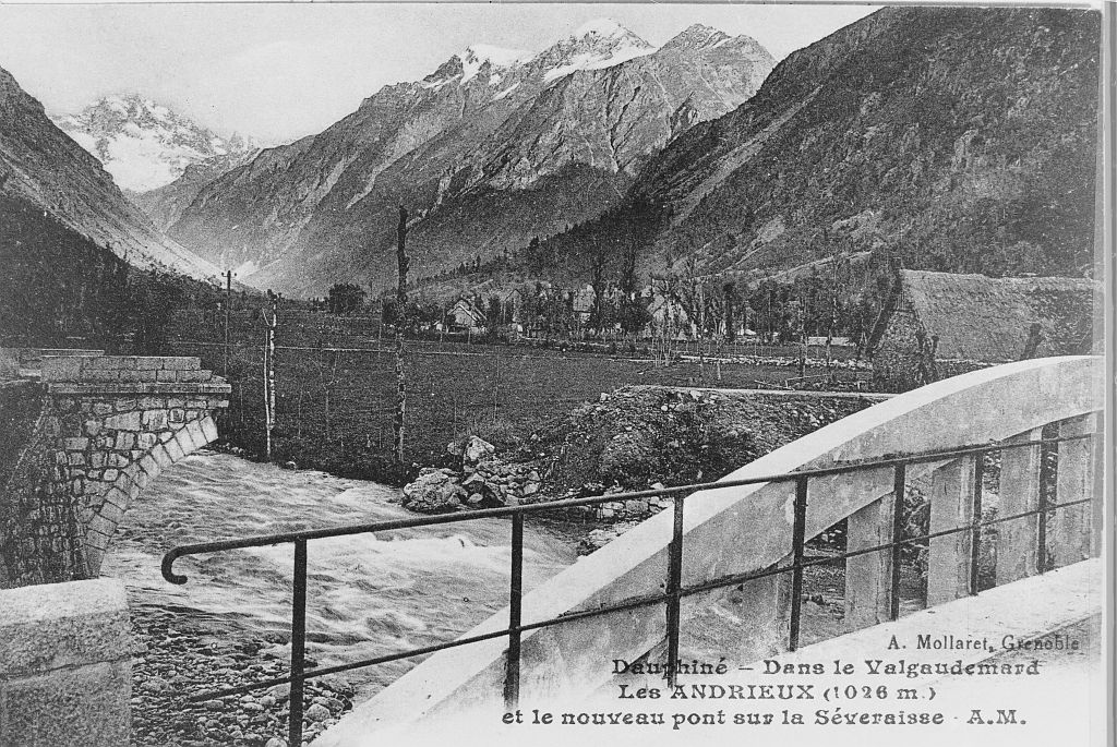 valgaudemar pont construit après  les crues de 1928 © PNE