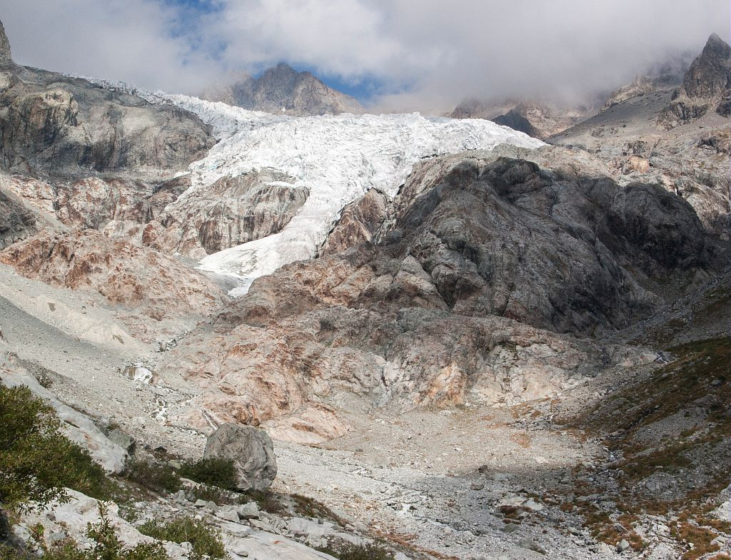 Photo-constat glacier Blanc © T-Maillet - Parc national des Ecrins
