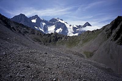 Glacier rocheux du Laurichard © J.Faure- Parc national des Ecrins