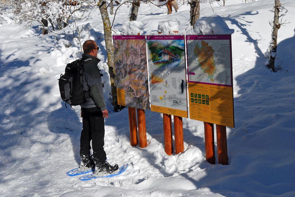Panneau d'entrée du Parc national vers Molines - © Olivier Warluzelle - Parc national des Ecrins