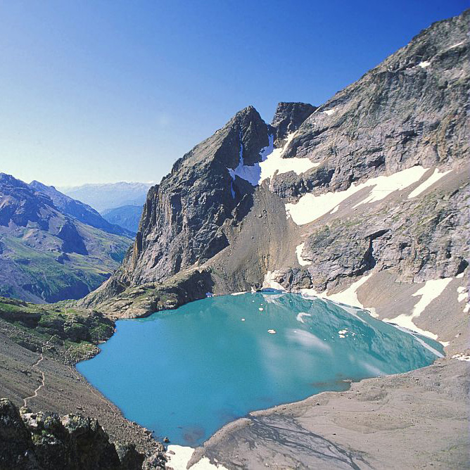 Le lac de l'Eychauda © Claude Dautrey - Parc National des Ecrins