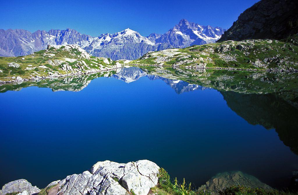 Le lac de Pétarel © Claude Dautrey - Parc national des Ecrins