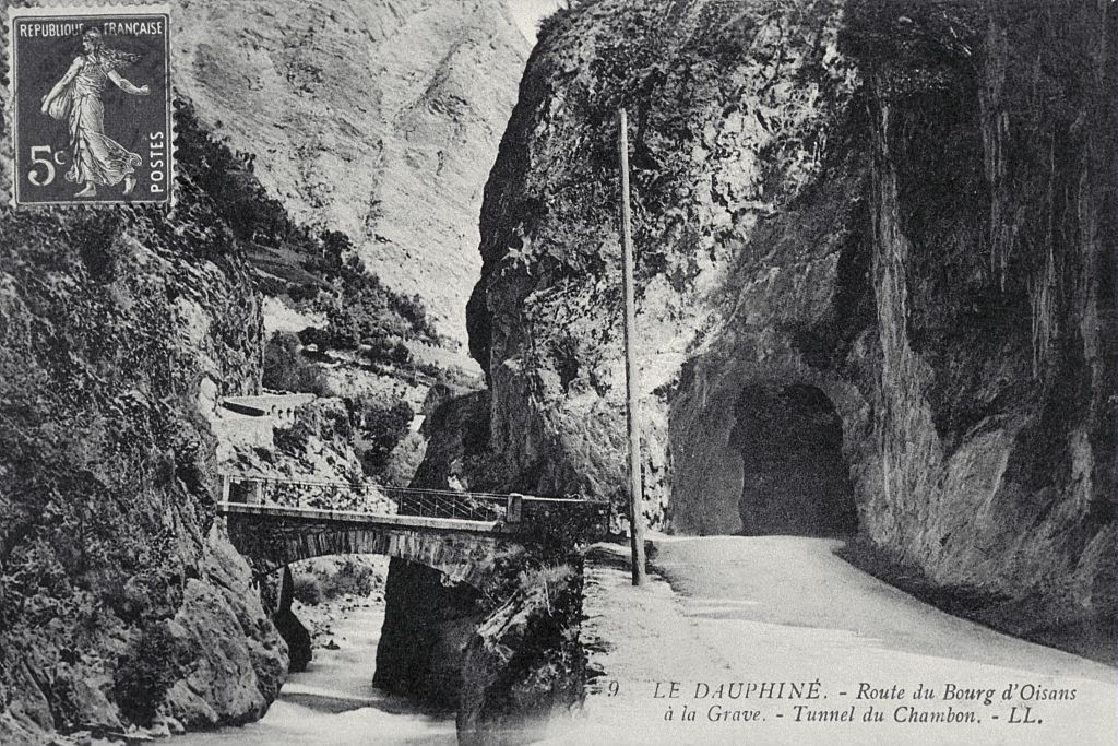 Route du Bourg d'Oisans à La Grave - Le tunnel du Chambon - Lucien Tronc (collection)