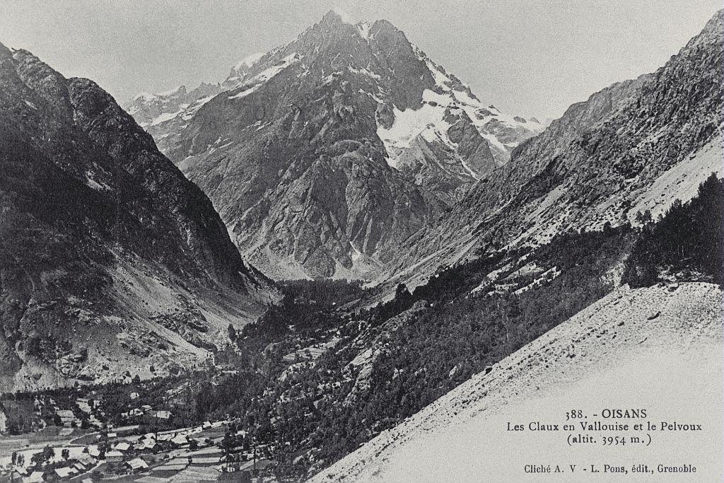 Les Claux en Vallouise et le Pelvoux (3954 m) - collection Lucien Tron
