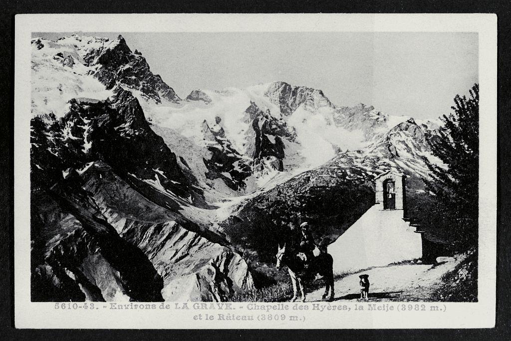 La chapelle des Hyères, la Meije (3987 m) et le Râteau (3809 m) - collection - Eric Vannard