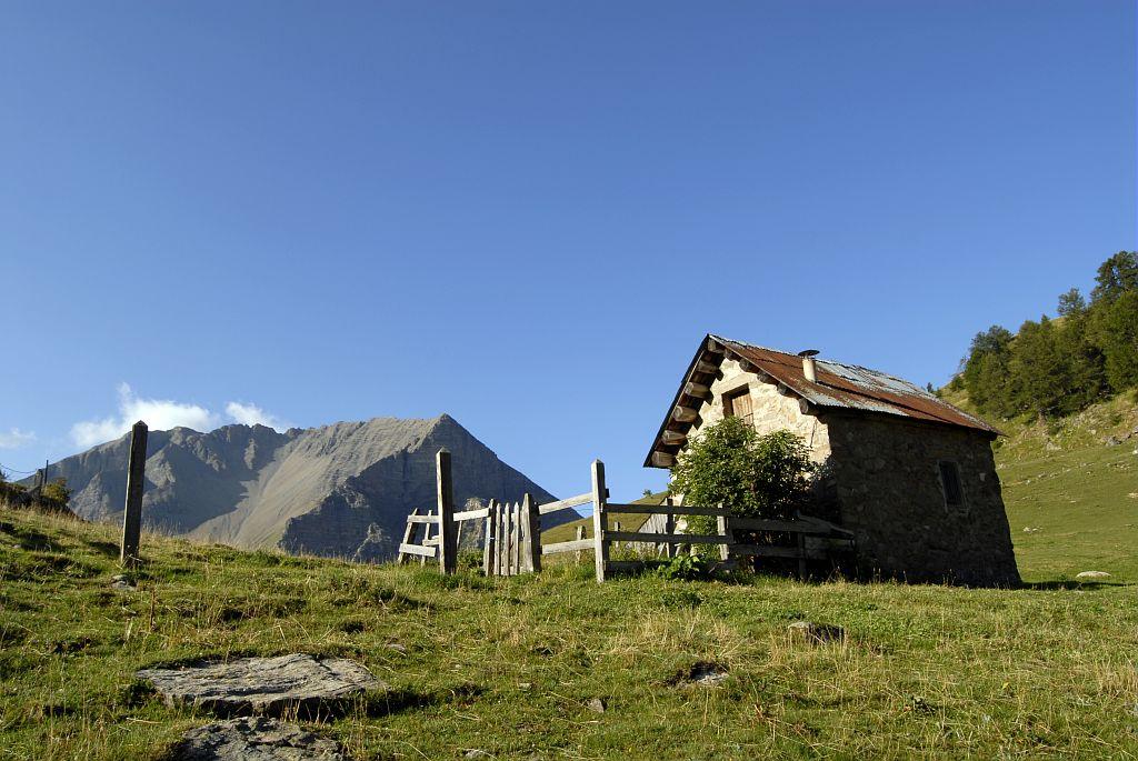 Cabane du distroit © Mireille Coulon - Parc national des Ecrins