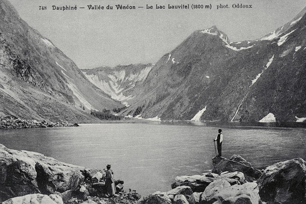 Vallée du Vénéon - Le lac Lauvitel (1800 m) - Collection Lucien Tron