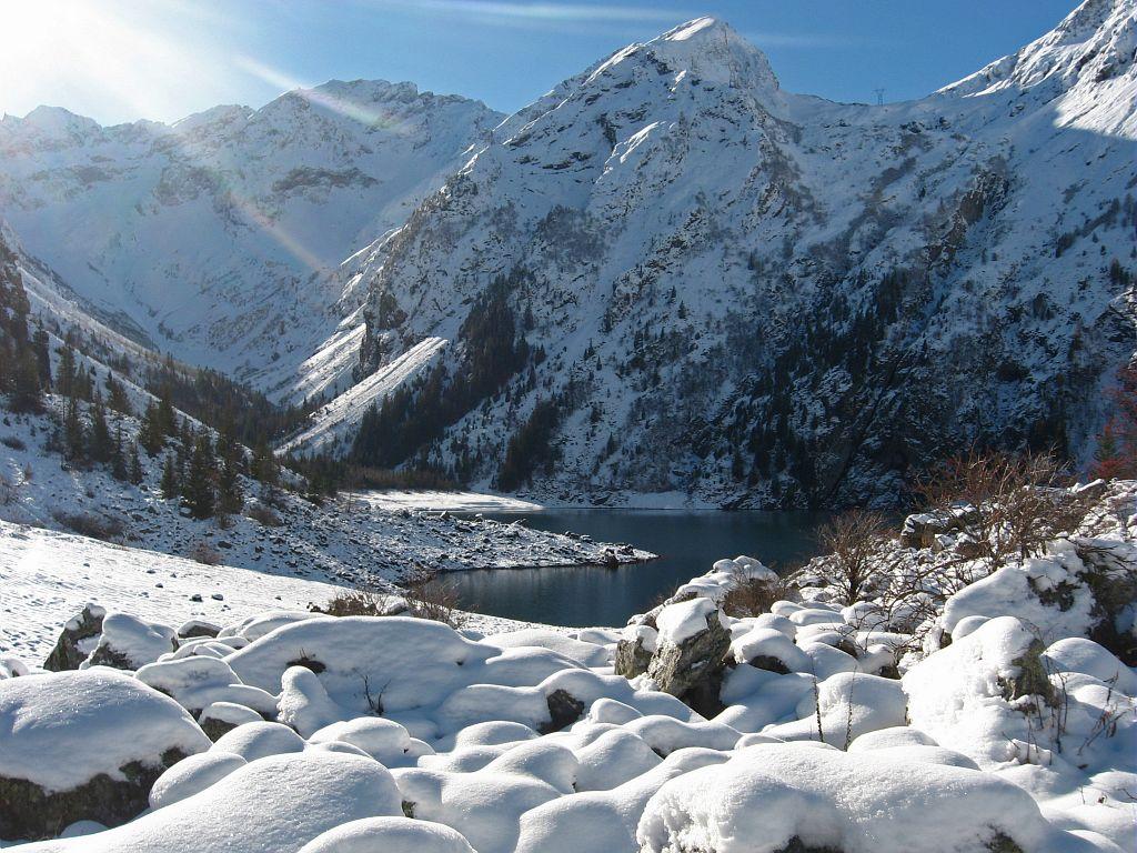 1ère neige 2011-2012 sur le Lauvitel © Jérôme Foret - Parc national des Ecrins