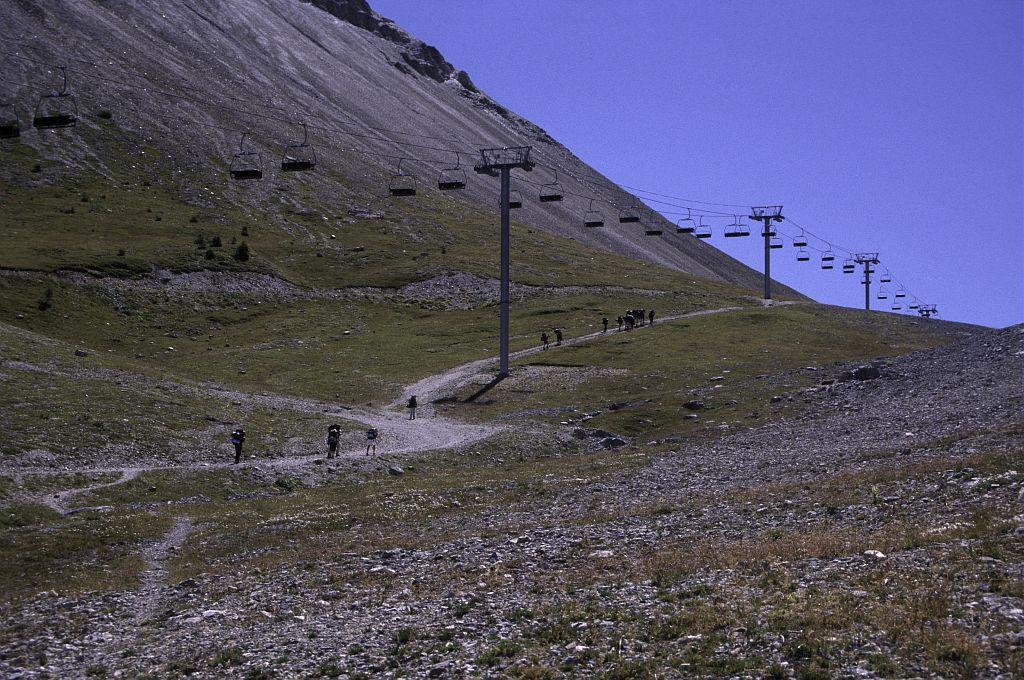 Le col de l'Eychauda, versant Briançon © Marie-Geneviève Nicolas - Parc national des Ecrins