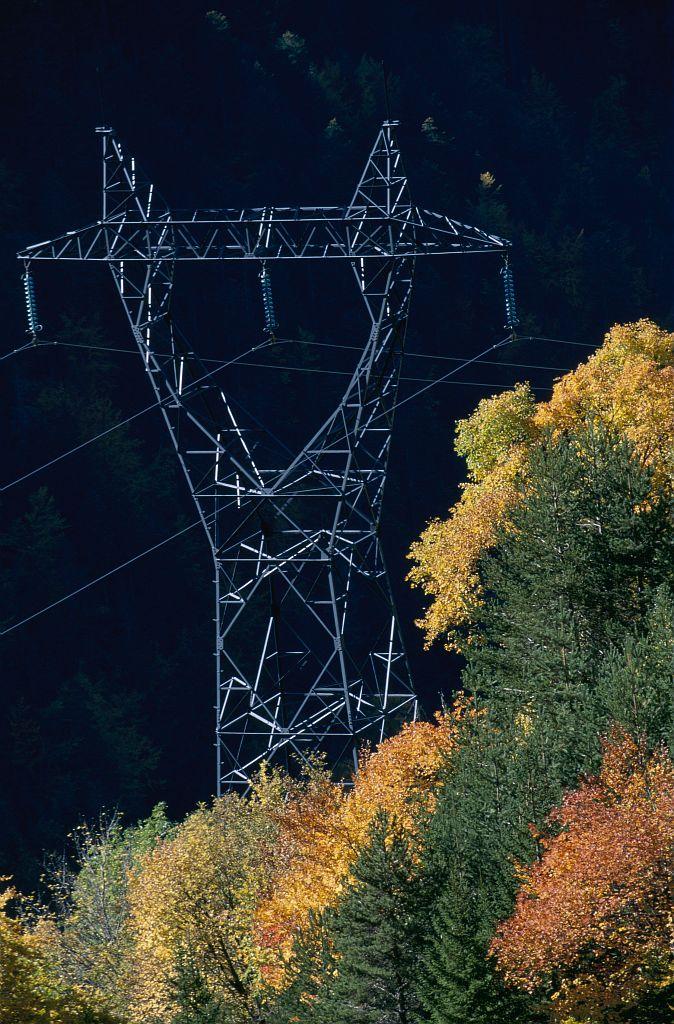 Pylone Haute-Tension © Jean-Pierre Nicollet - Parc national des Ecrins