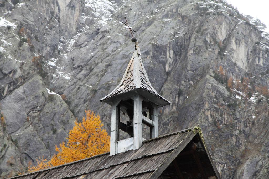Chapelle ailefroide Pelvoux - détail clocher © Y-Baret - Parc national des Écrins