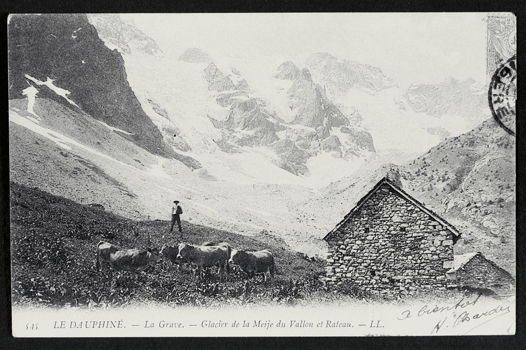 La Grave - Glacier de la Meije du Vallon et Rateau © Alain Bignon (collection)