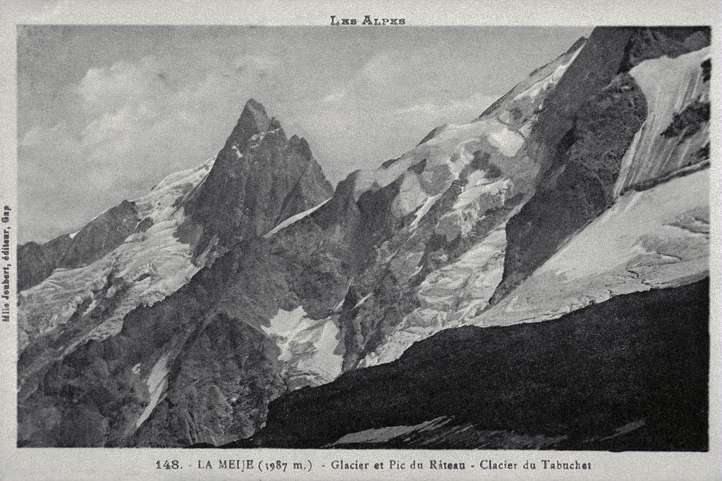 La Meije (1987m) - Glacier et Pic du Râteau, glacier du Tabuchet © Parc national des Ecrins (collection)