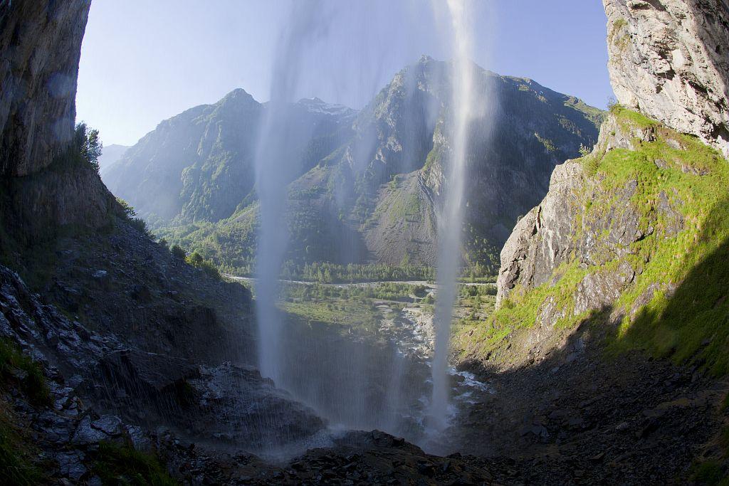 La cascade du Casset © Pascal Saulay, Parc national des Ecrins.
