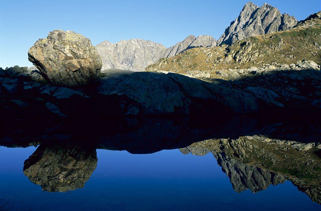 Lac Lautier, au-dessus de Villar-Loubière © Marc Corail,  Parc national des Ecrins.