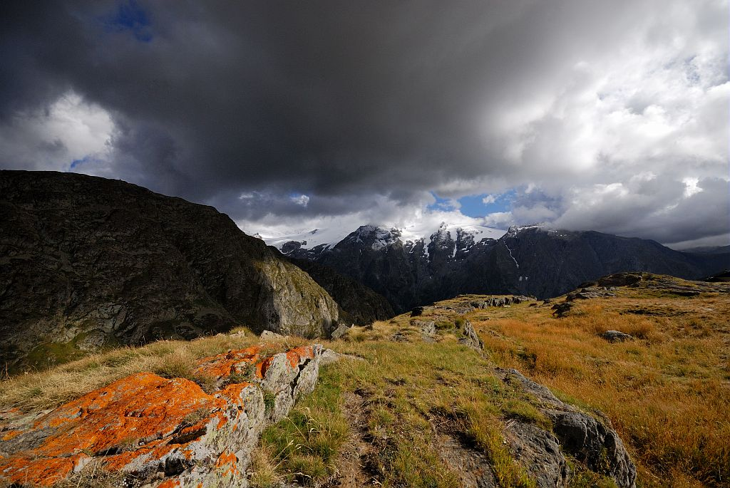 Le massif de l'Oisans depuis le plateau d'Emparis © Mireille Coulon, Parc national des Ecrins.