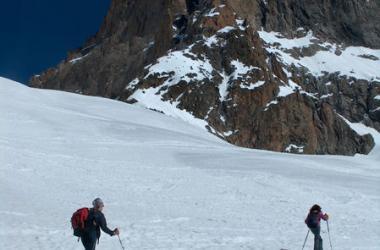 Montée au Promontoire à ski
