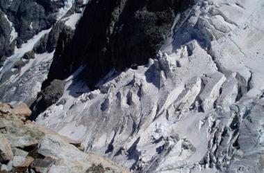 Les crevasses du Glacier de l'Homme - La Grave