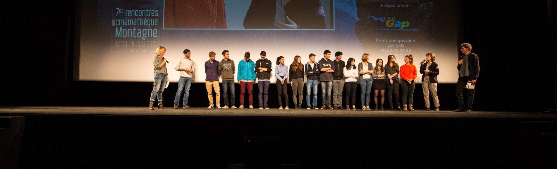 Lycéens de gap - © Rencontres de la cinémathèque - 13 novembre 2015 - projet sur le climat avec le Parc national des Ecrins