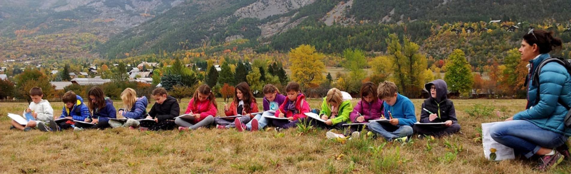 sortie automne 2017 - école Vallouise - © C. Albert - Parc national des Ecrins