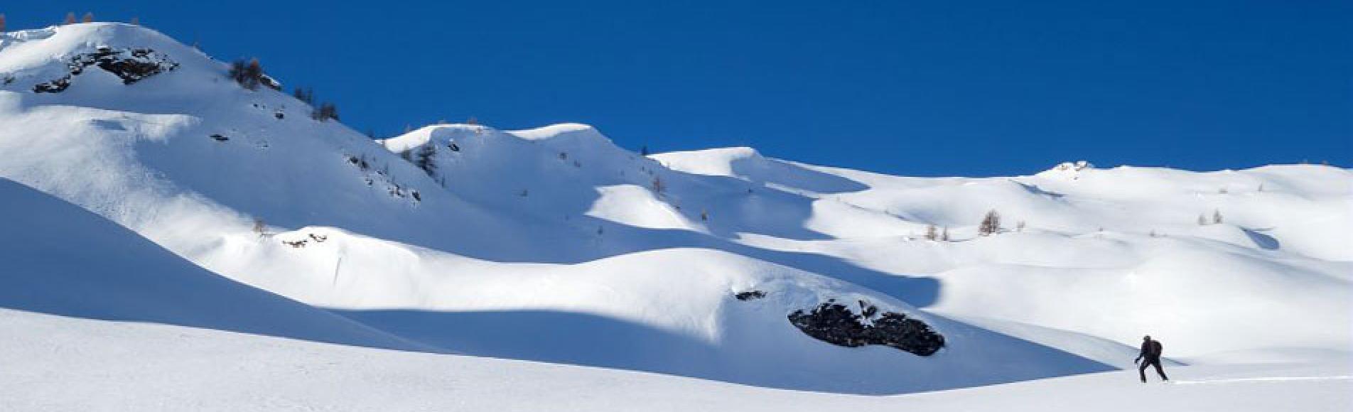 Ski de randonnée - Freissinières - © T-Maillet - Parc national des Écrins