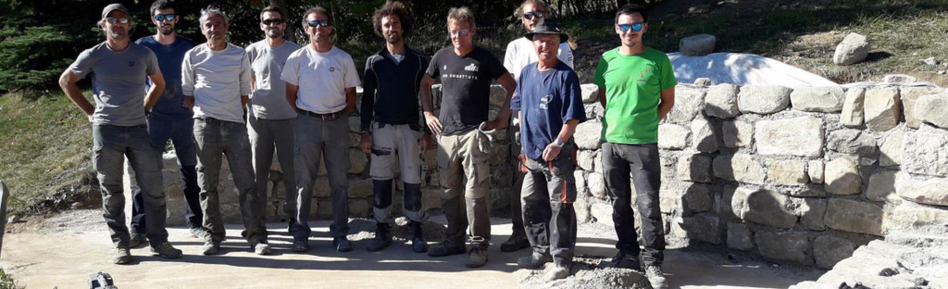 Chaillol - stage formation-chantier pierre maçonnée © S-D'houwt - 2018 Parc national des Écrins