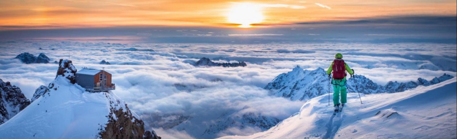 Ski de randonnée haute montagne - Parc national des Ecrins - refuge de l'Aigle - © T.Blais
