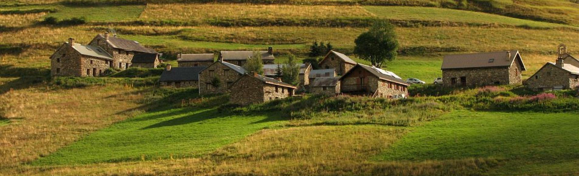 Les Rivets - hameau de La Grave - vallon du Ga après Le Chazelet - terrasses ©Christophe Albert - Parc national des Ecrins