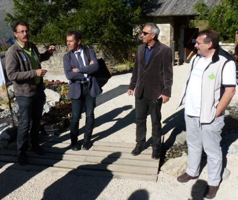 Penser l'avenir du col du Lautaret - Une réunion en septembre 2014 - Photo Parc national des Ecrins