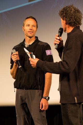 Julien charron, technicien Parc national des Ecrins - Rencontres de la cinémathèque - nov 2015