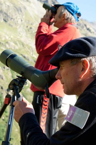 Observation-animation -parc national des Ecrins © P-Masclaux - Parc national des Ecrins