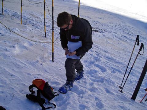 Sondage battage de neige@Jean-Philippe Telmon, PNE.