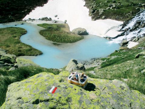 Balisage GR54 - lac de la douche - © B.Sol- CDRP 05