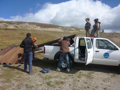 Opération nettoyage au Granon - sept 2017 - Cathy Gosselin