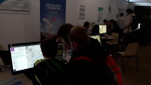 Salon Géomatique 2017 - Stand et applications du Parc national des Ecrins