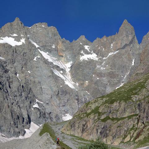 Moraine glacier Noir - © T.Maillet - Parc national des Écrins