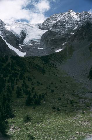 Moraine glacier du Casset - © B.Nicollet - Parc national des Écrins