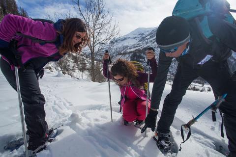 Sortie hiver Esprit parc national avec Philippe Chenal dans le Champsaur  - photo E.Rondeau - parcs nationaux de France