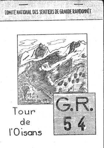 couverture du premier topo du GR54, en 1965 - centre de documentation du Parc national des Ecrins