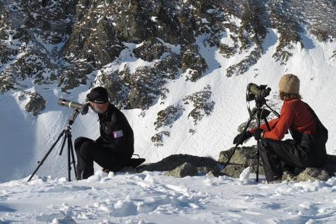 Comptage hiver - © M.Corail - Parc national des Écrins