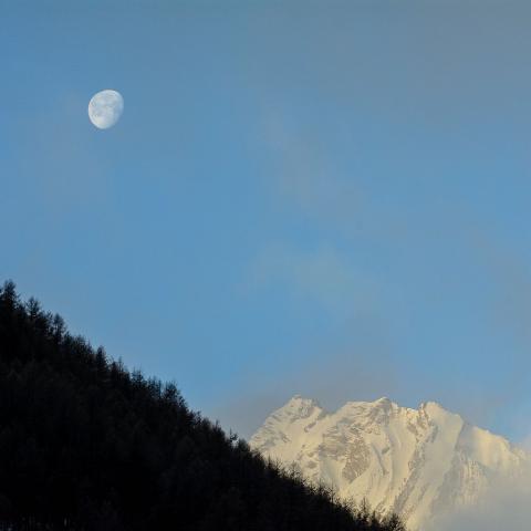 quasi pleine lune début janvier 2018 © M.Coulon - Parc national des Écrins