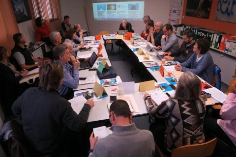 Conseil scientifique du Parc national des Écrins - mars 2018 au muséum d'histoire naturelle de Grenoble - © L.Imberdis - Parc national des Écrins
