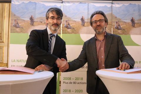 Etienne Vieillefond, DG de GMF, et Christophe Aubel, DG de l'AFB ©Michel Monsay