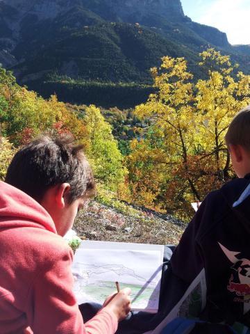 Lecture de paysage - école Vallouise-Pelvoux - Parc national des Écrins