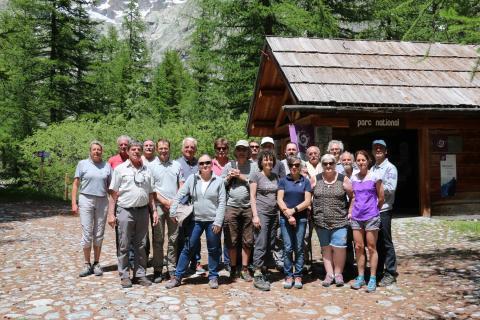 Les membres du conseil scientifique au Pré de Mme Carle © Parc national des Écrins